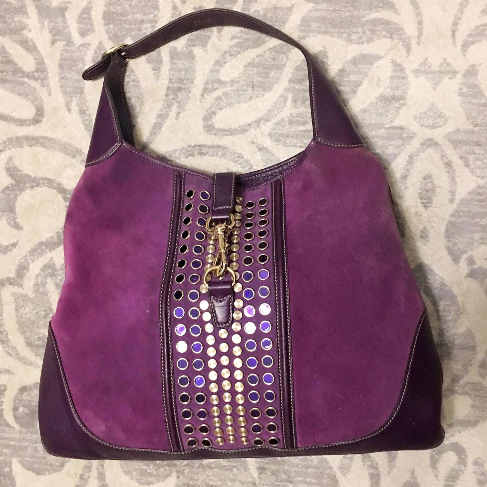 La mia borsa di Gucci viola presa su Vestiaire Collective