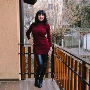 Minidress bordeaux preso su Femme Luxe